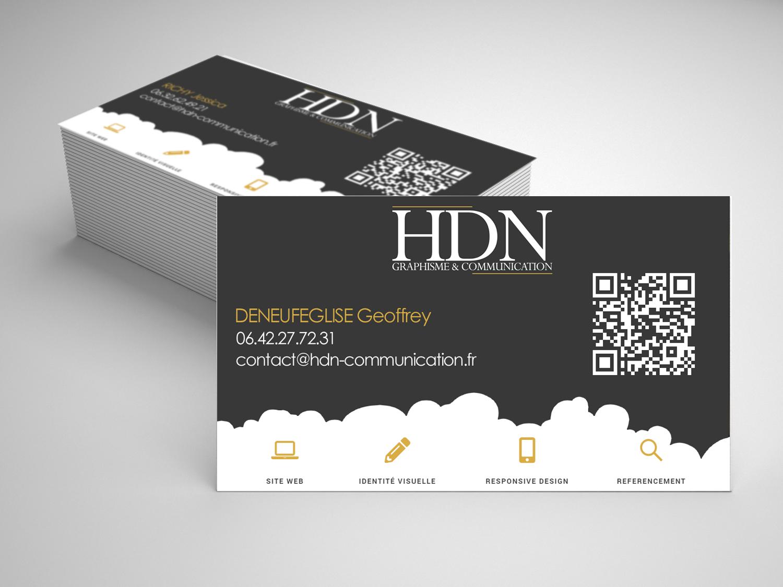 Realisation Des Cartes De Visite HDN Communication